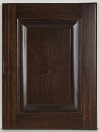 Alder Square Raised Panel with Dark Birch Stain