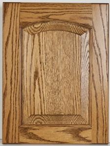 Oak Raised Panel Arched Upper