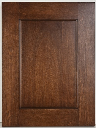 "Birch Raised Panel Reverse with ""Kushner # One"" stain"
