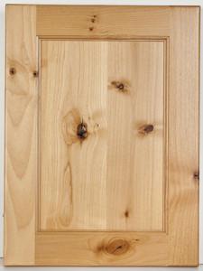 Knotty Alder Flat Panel-Natural