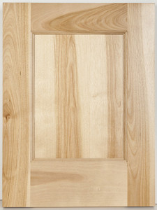 Natural Birch Flat Panel Special Top and Bottom Rails