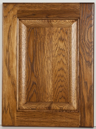 "Hickory Square Raised Panel with ""Stacey"" Stain"