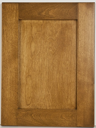 Birch Flat Panel Shaker with Ikeman Stain