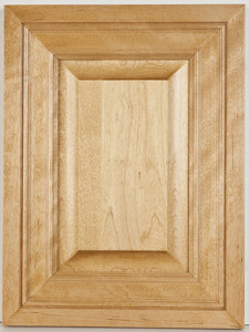 """Birch Raised Panel Mitered and Molded with """"Golden Oak"""" Stain"""