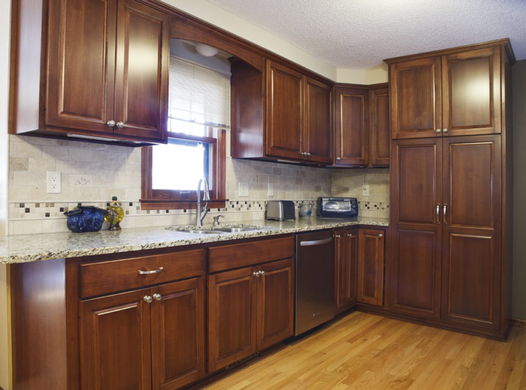 11-Natural Birch Raised Panel Refacing Granite Countertops