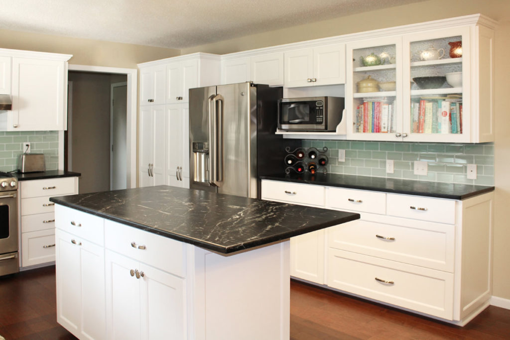 2-RTF Painted White Shaker Refacing Granite Countertops