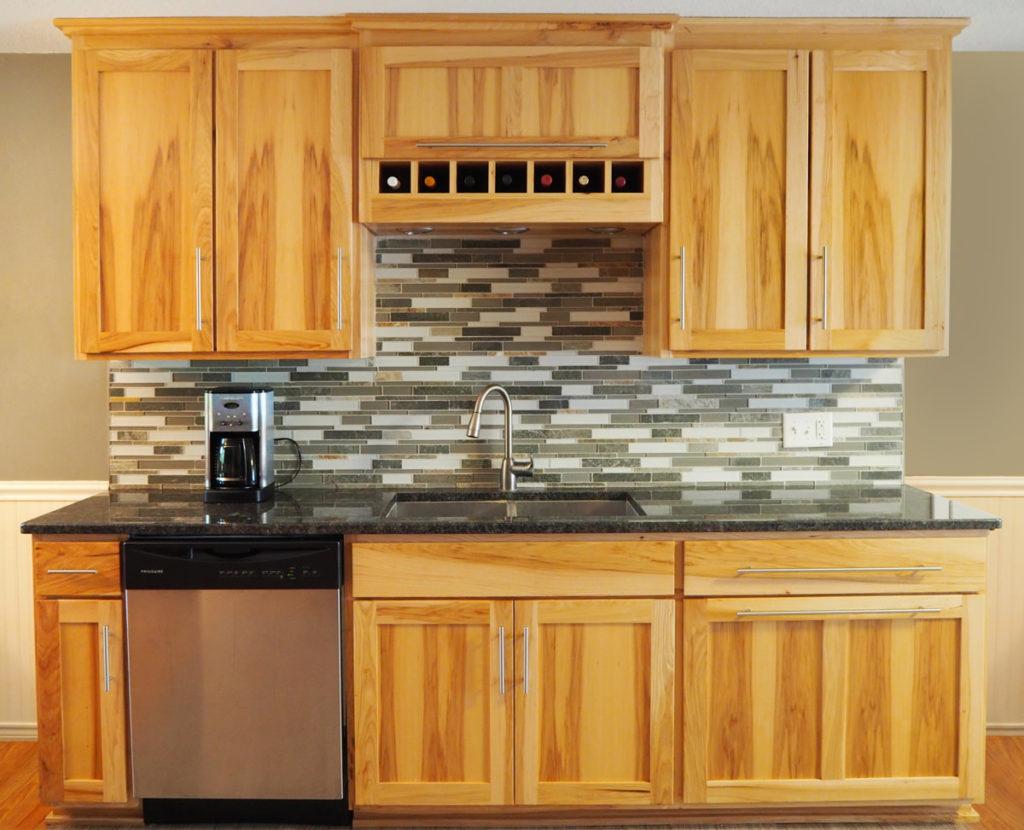 Hickory Shaker Custom Cabinets Granite Countertops