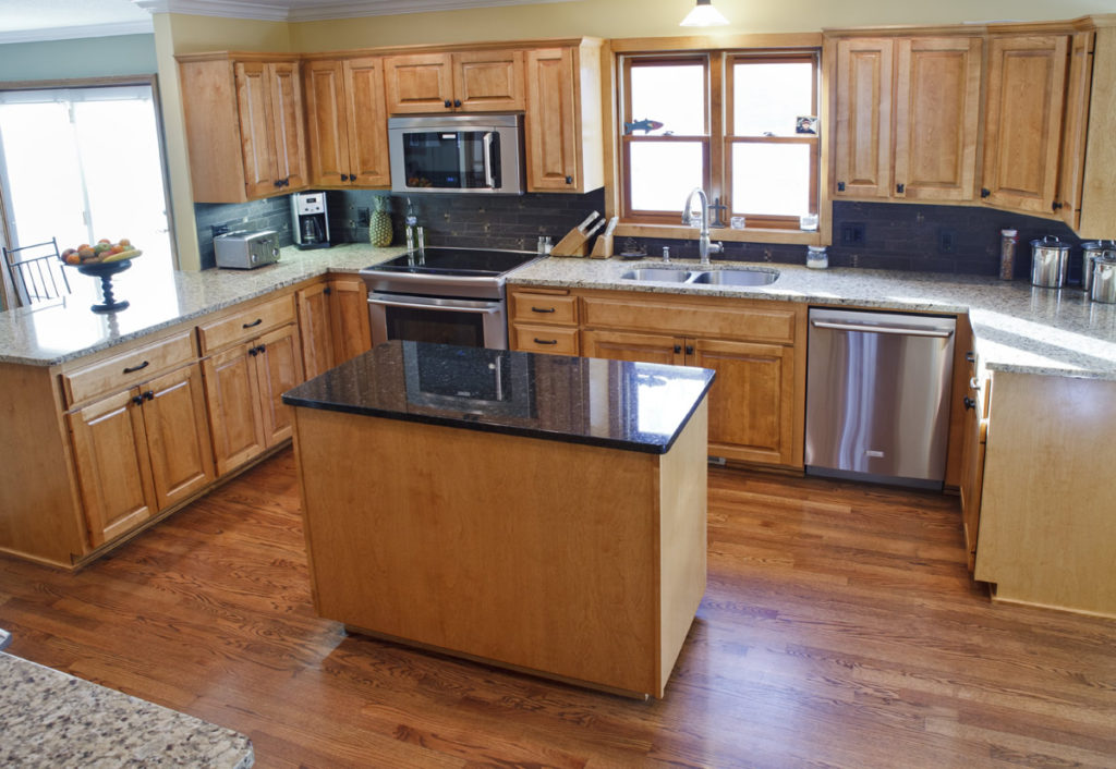 8-Birch Raised Panel Refacing Granite Countertops
