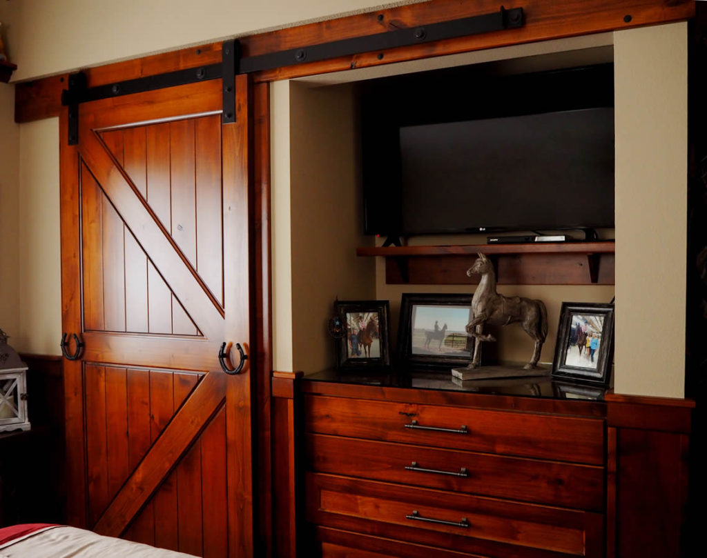 jewel-cabinet-refacing-Custom Cabinetry Barn Door