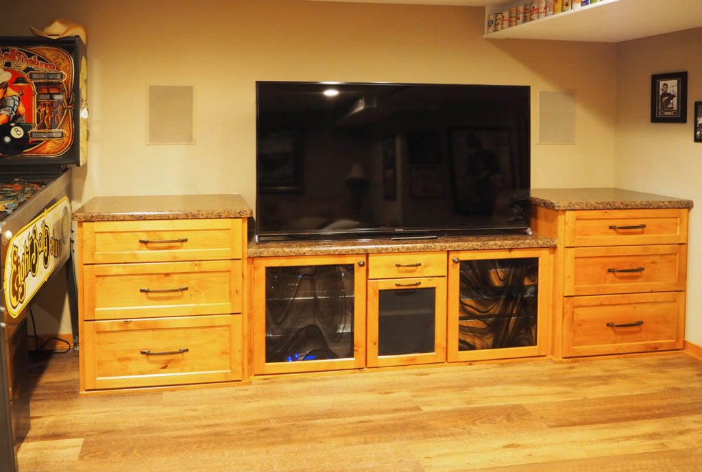 jewel-cabinet-refacing-Custom Hickory Entertainment Center