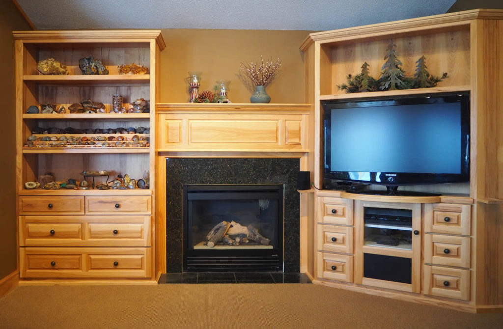 jewel-cabinet-refacingt-Custom Hickory Entertainment Center