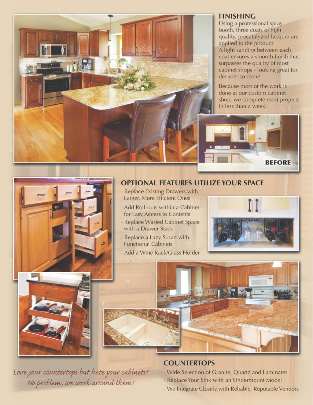 Jewel Cabinet Refacing brochure page 3