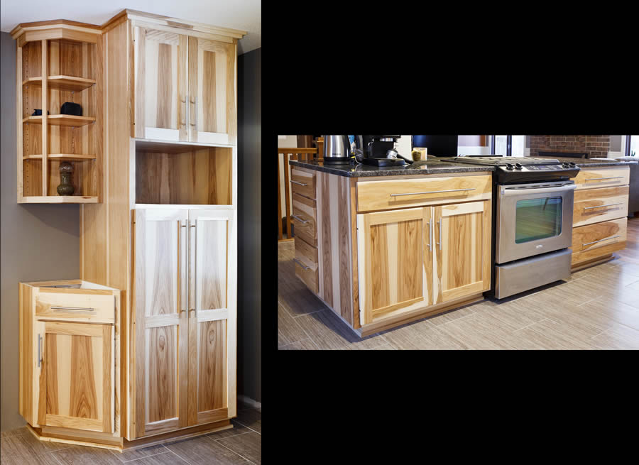 jewel cabinet refacing 33 Hickory Kitchen, Corner Cab, Island web