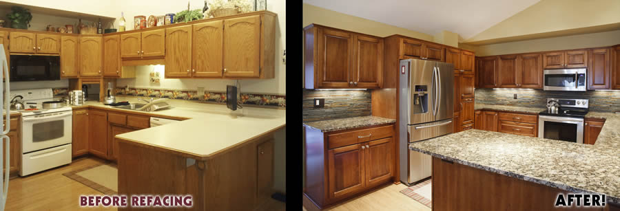 jewel cabinet refacing 34 Mattson Kitchen Before and After web