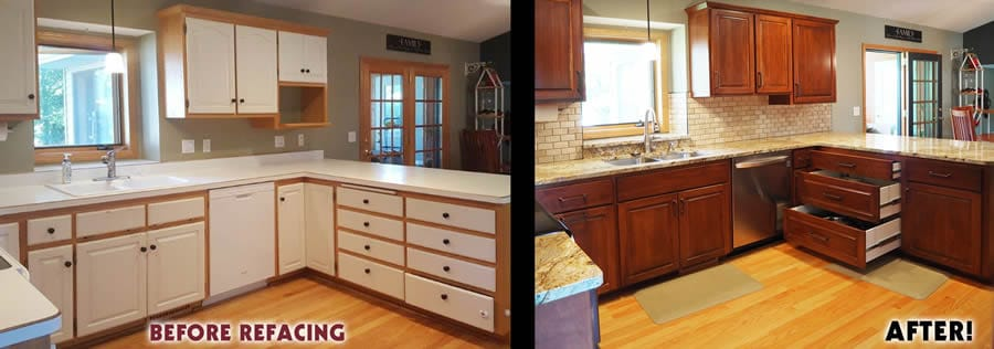 jewel cabinet refacing 60 Snyder Sink Wall Before and After web