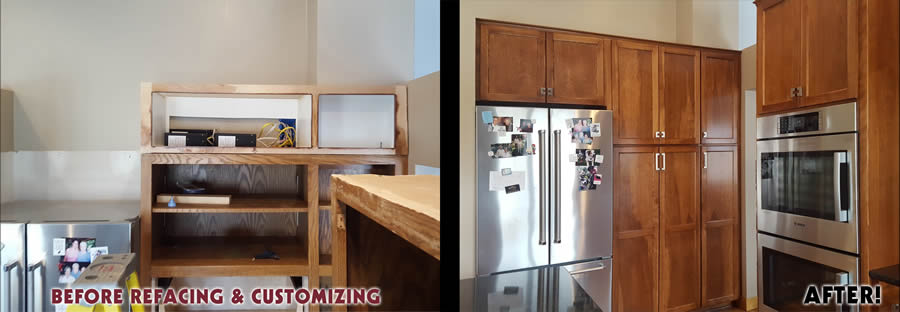 jewel cabinet refacing 71 Above Fridge Extend Cabs Before and After web