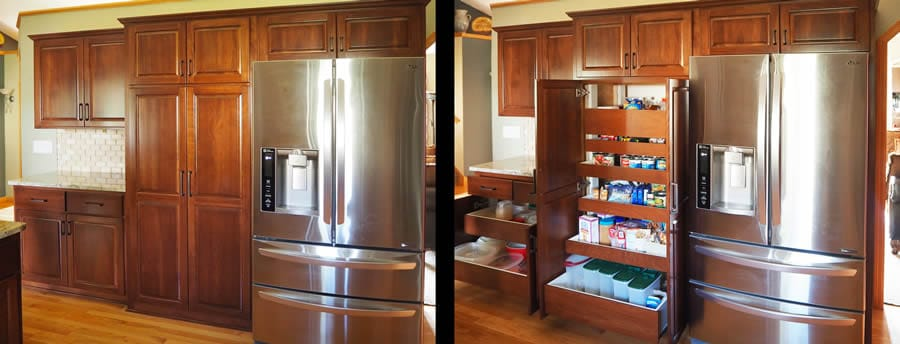 jewel cabinet refacing 76 Cabinet, Pantry Rollouts Open and Closed web