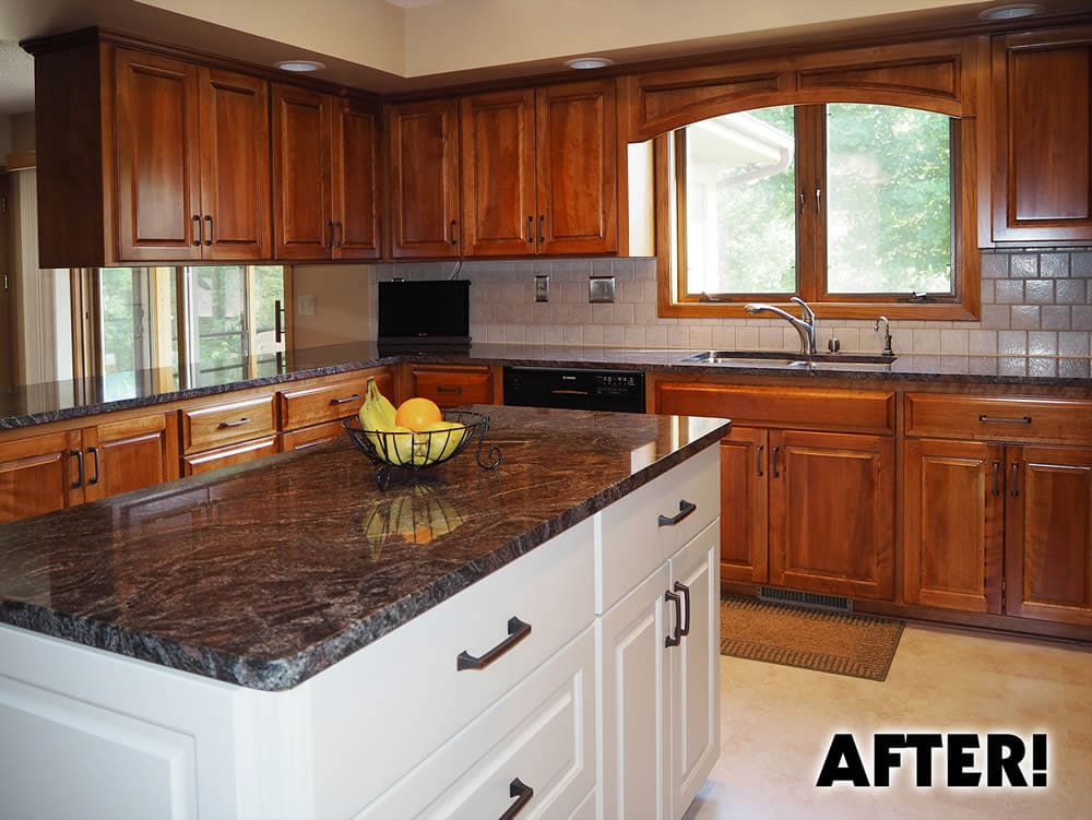 jewel cabinet refacing kitchen after refacing
