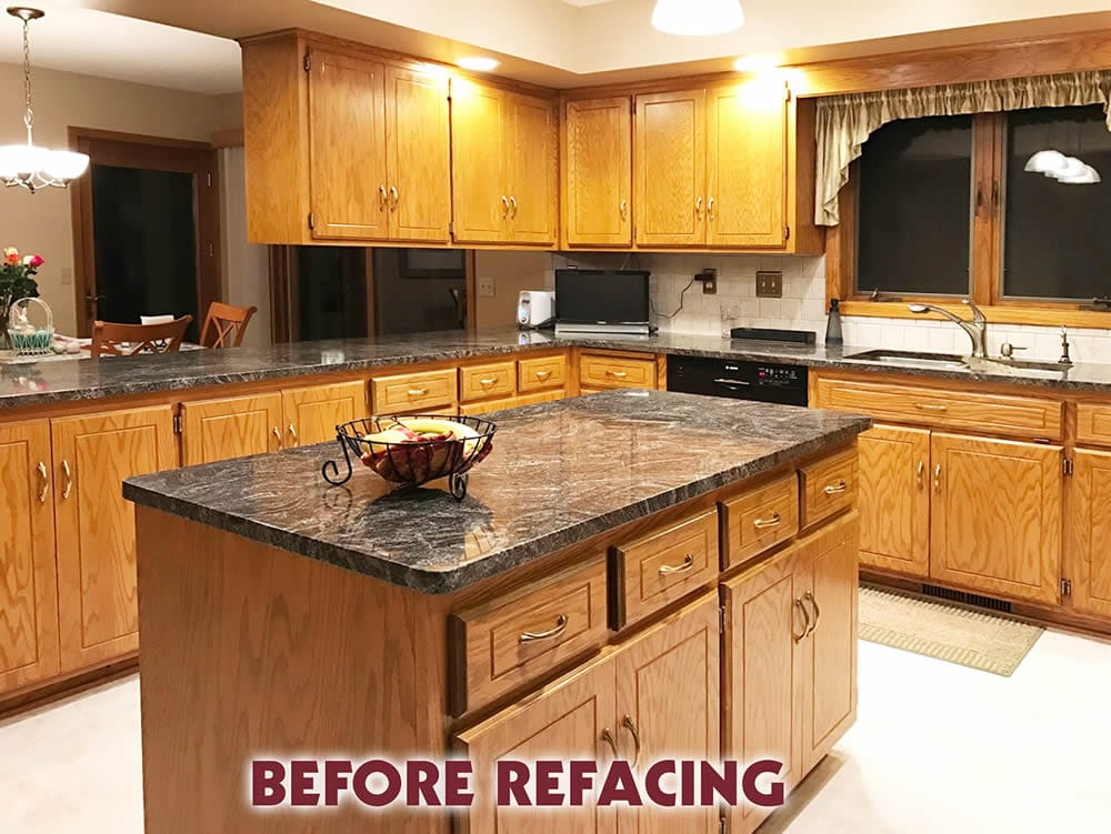 jewel cabinet refacing kitchen before refacing