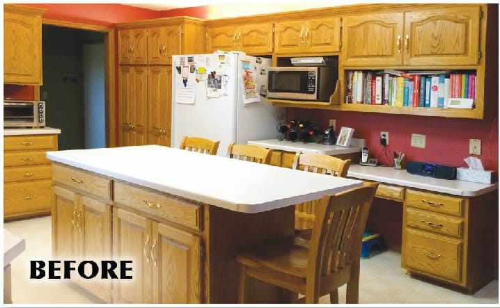 painted kitchens before